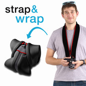 Miggo - Strap&Wrap for Mirrorless (CSC) Camera - Red Black