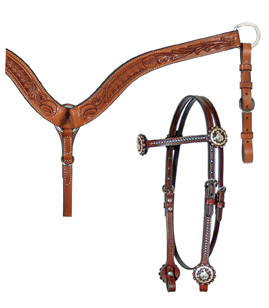 Bucking Broncho Headstall Tack Set