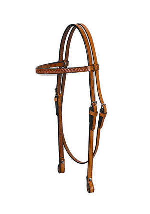 "5/8"" Browband Headstall - Shell Tooled picture"