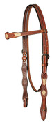 "⅝"" Rawhide Buttons Browband Headstall"