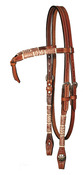 "⅝"" Basketweave Tooled Futurity Browband Headstall"
