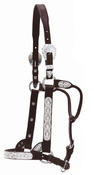 Show Halter - Flowers and Blue Stones