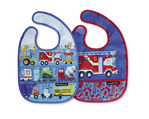 Busy City Bib / Set of 2 / Travel Pouch
