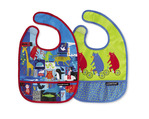 ABC Bear & Friends Bib / Set of 2 / Travel Pouch