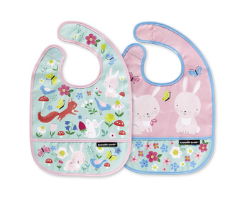Backyard Friends Bib / Set of 2 / Travel Pouch picture