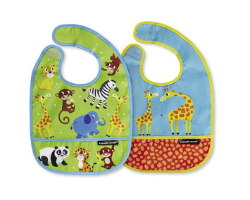 Little Jungle Bib / Set of 2 / Travel Pouch picture