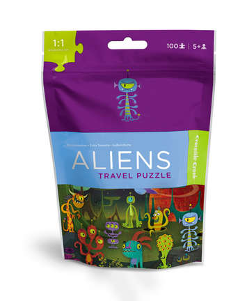 NEW / Aliens Travel Pouch Puzzle picture