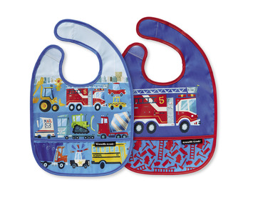 Busy City Bib / Set of 2 / Travel Pouch picture