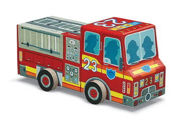 Fire Truck Vehicle Puzzle picture