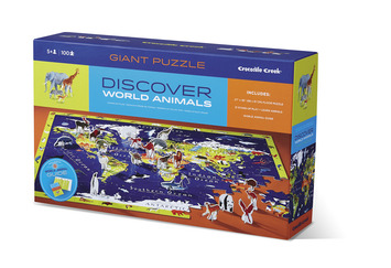 Discover World Animals Learn + Play Puzzle 100pc picture