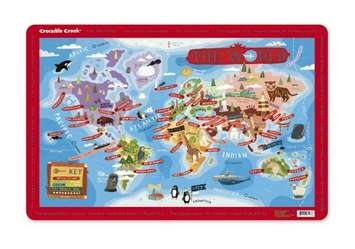 World Cities Map Placemat picture