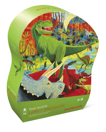 Land of Dinosaurs Shaped Puzzle picture
