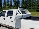 TOYOTA TUNDRA 07'-13' HEADACHE RACK WITH SIDE SLIDE TOOL BOX