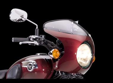Kawasaki W800 Bikini Cowling, candy cardinal red. picture