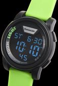 Kawasaki Digital Watch Green