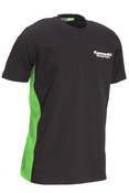 KRT mens cotton  T-shirt black & lime: SIZE SML