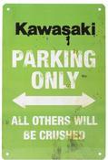 Kawasaki Only Vintage Parking Sign