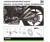 Genuine chain kit Z1000SX (ZXT00G/H/L/M/W)