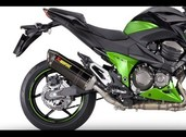 Akrapovic muffler exhaust slip on can, Z800e Carbon 2013~