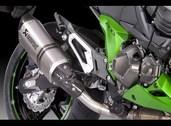 Akrapovic muffler exhaust slip on can, Z800 Titanium 2013~