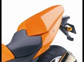 Pillion seat cover, Z750 2009~2013 Pearl wildfire orange
