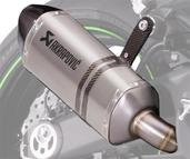 Akrapovic Dual Slip-on Exhaust - Titanium