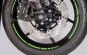 Kawasaki GP style rim tapes green