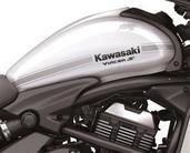 Kawasaki Vulcan S Tank Decal Silver