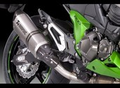 Akrapovic muffler exhaust slip on can, Z800e Titanium 2013~