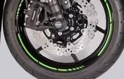 Kawasaki GP style rim tapes green
