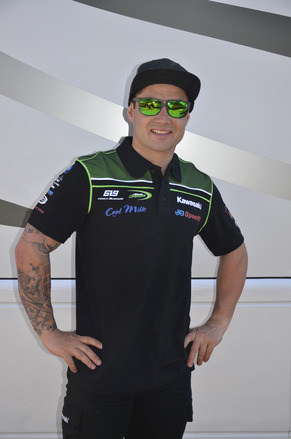"""Official 2017 Kawasaki BSB Team Polo Size LRG 40"""" picture"""
