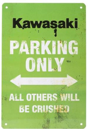 Kawasaki Only Vintage Parking Sign picture