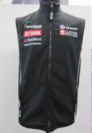 """GB Moto Team Body Warmer Size SML 40"""" picture"""