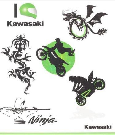Kawasaki Kids Tattoo Set picture
