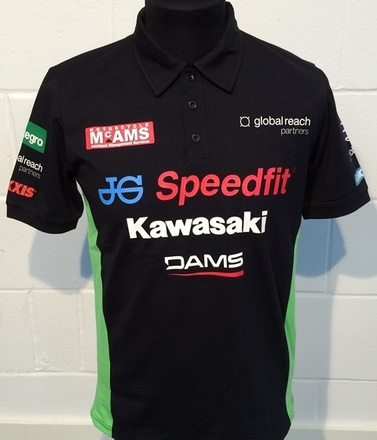 "Kawasaki Official BSB Polo 2XL 46"" picture"