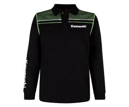 "Kawasaki Sports Long Sleeve Polo Shirt SIZE LRG 40"" picture"