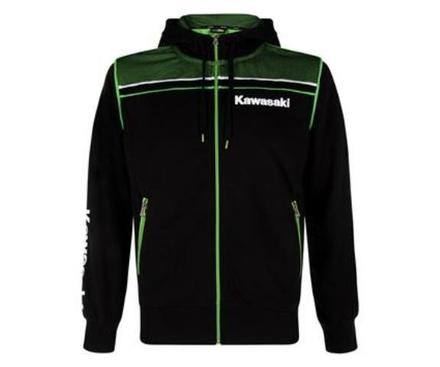"Kawasaki Sports Hooded Sweatshirt SIZE XLG 42"" picture"