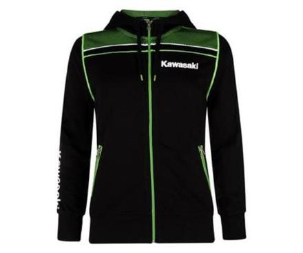 "Kawasaki Sports Ladies Hooded Sweatshirt SIZE LRG 38"" picture"