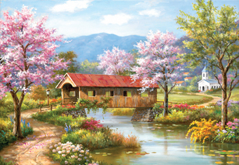 Covered Bridge in Spring picture