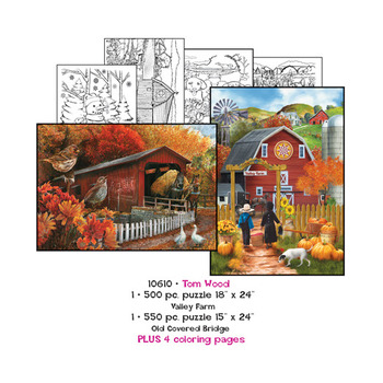 Tom Wood Puzzles plus Coloring pages picture