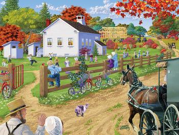 Amish Schoolyard picture