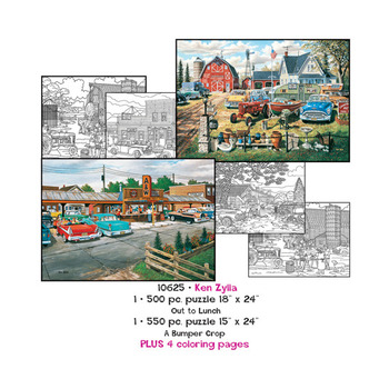 Ken Zylla Puzzles plus Coloring pages picture