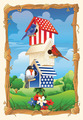 Star Spangled Birdhouse