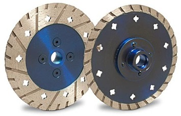 """MK Cut & Grind 4"""" x .100"""" x 7/8"""" w/4 Holes with 5/8""""-11 Adapter picture"""