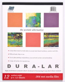 "Dura Lar Pad 12 shts .004"" 9x12"" Wet Media picture"