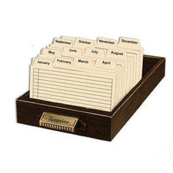 Display: Library Drawer w/ Index Cards picture