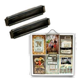 Printers Tray: Label Holder: Antique Silver picture
