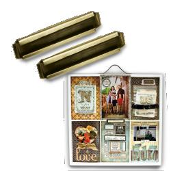 Printers Tray: Label Holder: Antique Brass picture