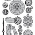 7g Cling Stamps: Time pieces