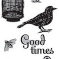 7G Cling Stamps: Bird Song